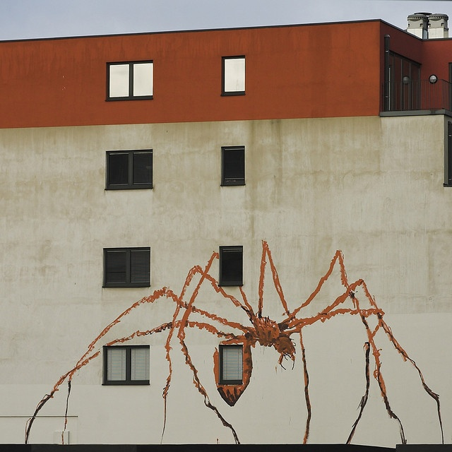 Vincent Glowinski alias Bonom, Spider on a Wall by jeankes, via Flickr