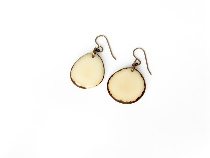 White earrings. Tagua nut jewelry. Cream earrings. Light weight earrings. Sela Designs. Off white earrings. nude earrings. by SelaDesigns on Etsy https://www.etsy.com/listing/249899208/white-earrings-tagua-nut-jewelry-cream