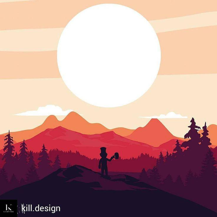 @Regrann_App from @kill.design -  #illustration #illustrator #flatdesign #graphicdesign #landscape #forest #sunrise #goblin #beer #graphicdesigner #student - #regrann