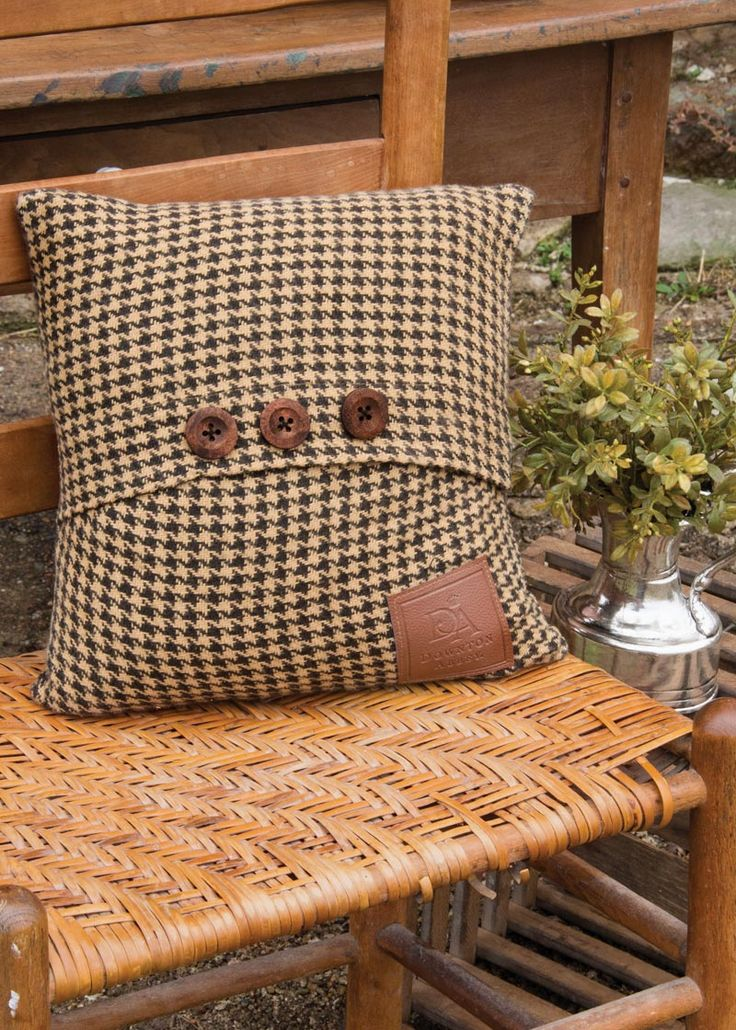 Add a dash of English hunting lodge to your home, library or office with this houndstooth pillow!