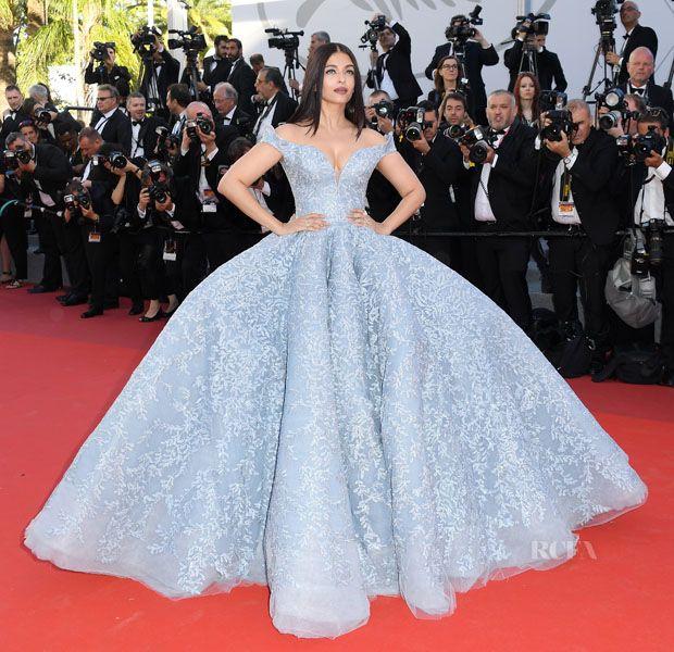 Aishwarya Rai Bachchan In Michael Cinco Couture – 'Okja' Cannes Film Festival Premiere