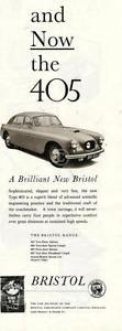 btristol car ads   1954 Bristol Range 405 Car Ad Earls Court Motor Show   eBay