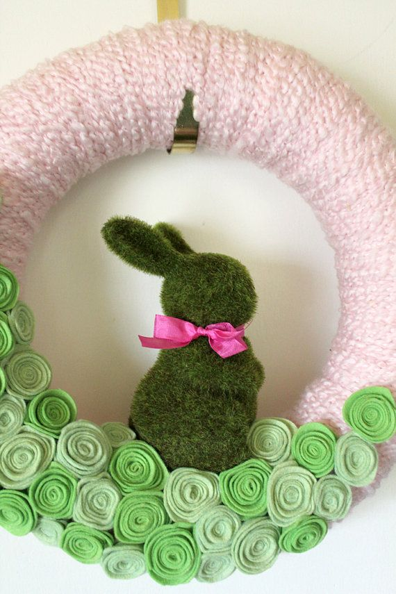 I like the moss bunny from this wreath.