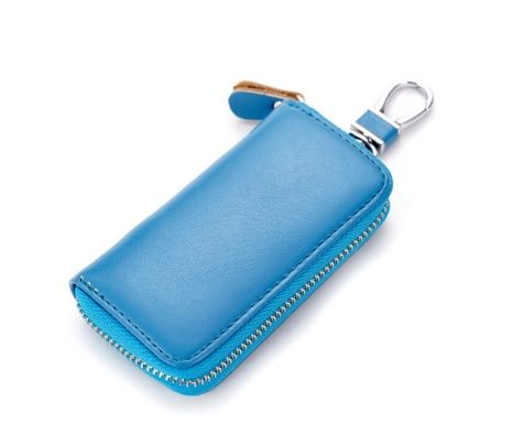 Blue Colour PU Keyholder with Zipper