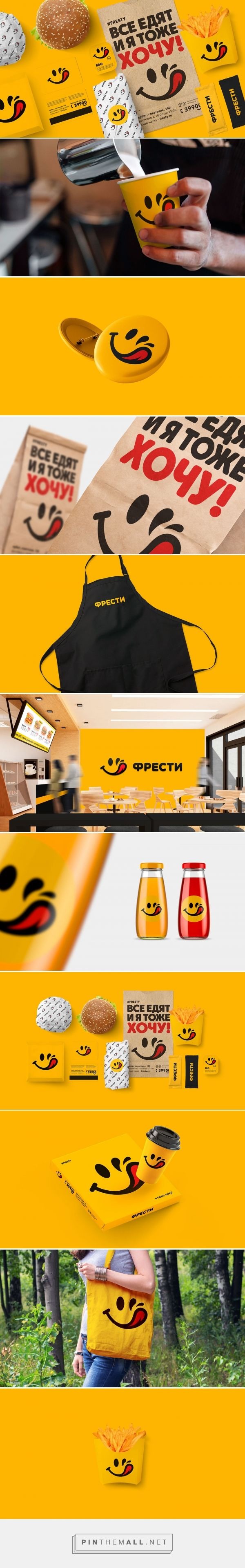 Fast food restaurant decor ideas - Fresty Fast Food Restaurant Branding By Konstantin Polyakov