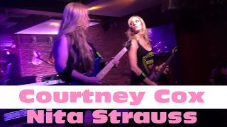 Courtney Cox Nita Strauss: Evol Walks at Lucky Strike   A night out with friends turn's in to a great time with new friend sharing by being the good people they are Rocking in a place that is know as LUCKY STRIKE were all is good having Food games an Wow Great groups of great people playing what they want to as they want to enjoy like we do the A NIGHT OUT Nita Strauss Courtney Cox  Evol Walks at Lucky Strike Courtney Cox at Lucky Strike NITA STRAUSS Courtney Cox Katrina De Vito and friends…
