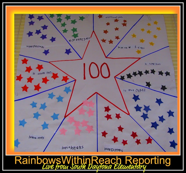 100 Stars for the 100th day! (Article has additional ideas.) @Darlene H- you really need to remember to do this!! :)