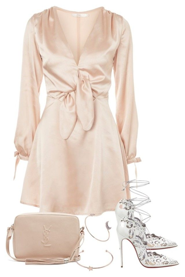 """Untitled #5048"" by theeuropeancloset on Polyvore featuring Oh My Love, Yves Saint Laurent and Christian Louboutin"