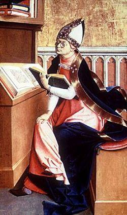 San Agustín de Hipona, uno de los Padres de la Iglesia más activos contra el priscilianismo.
