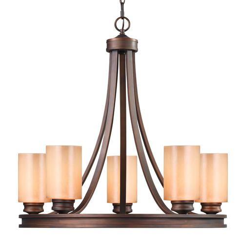 "$262 Roswell 5-Light 27.5"" Sovereign Bronze Chandelier At"