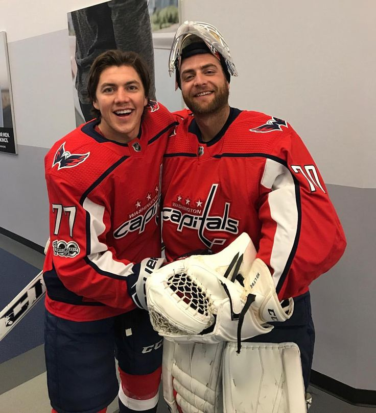 TJ Oshie and Braden Holtby. Find this Pin and more on Washington Capitals  ... 8a5c01e6e