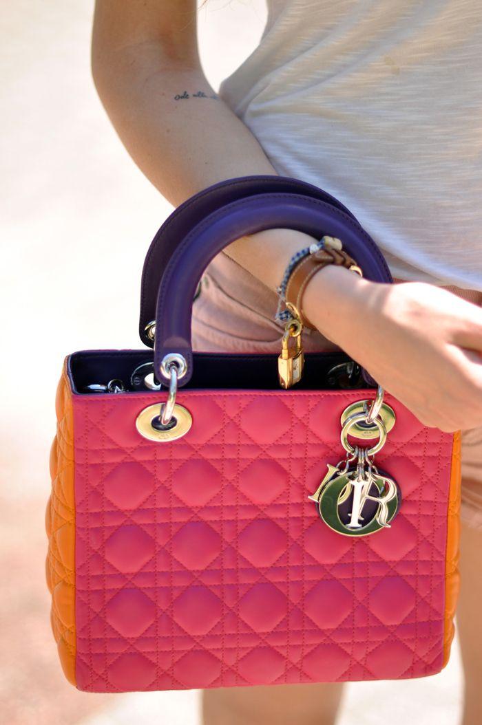Lady Dior handbag.