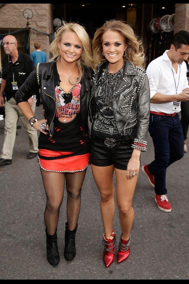 "Carrie Underwood and Miranda Lambert debut ""Somethin' Bad"" at the 2014 Billboard…"