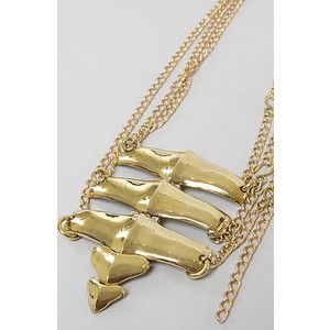 Mettle The Backbone Necklace in Brass