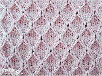 Diament Mesh Slipped ścieg |  Wzory Knitting Stitch