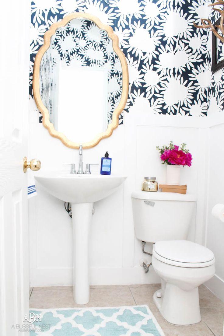 powder bathroom makeover reveal by