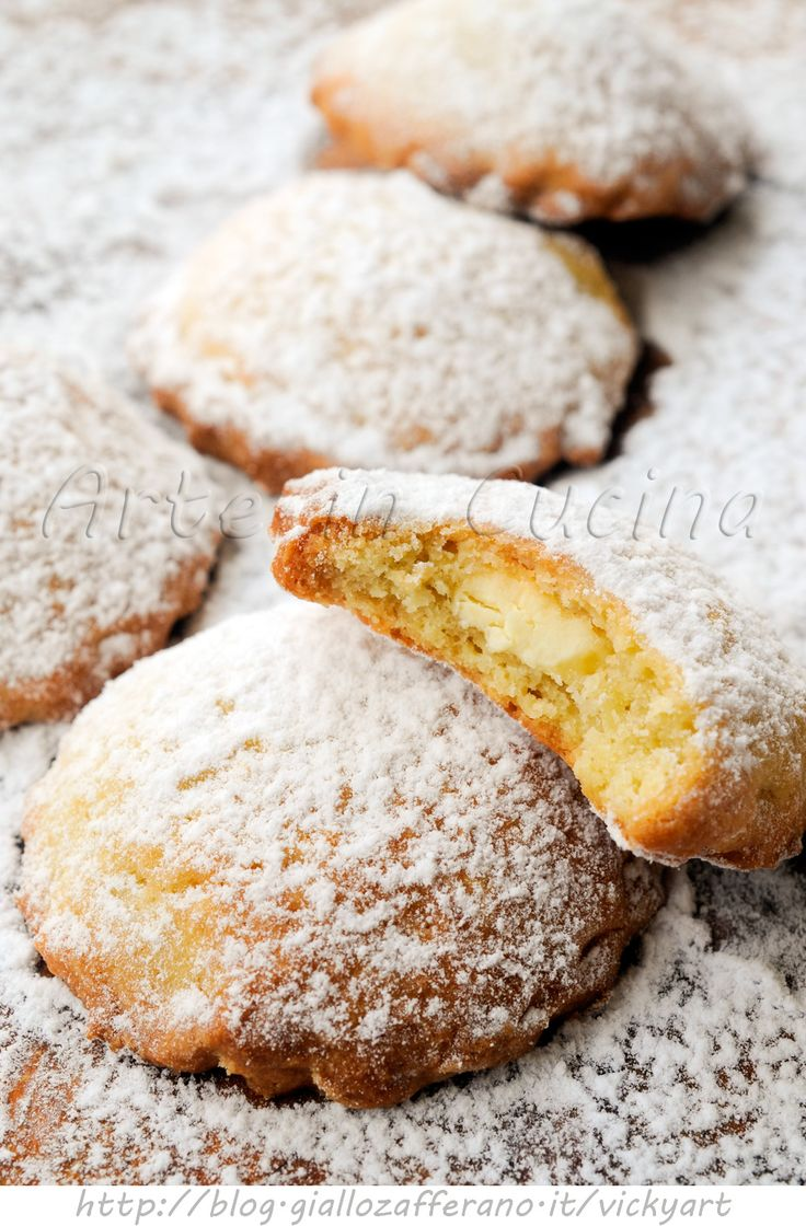 Biscotti ripieni al cioccolato bianco ricetta veloce - Cookies filled with white chocolate, for breakfast or snack, sweet quick and easy - vickyart arte in cucina