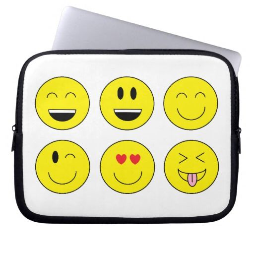 """""""Emojis"""" Laptop Sleeve makes a great gift! May be personalized!"""
