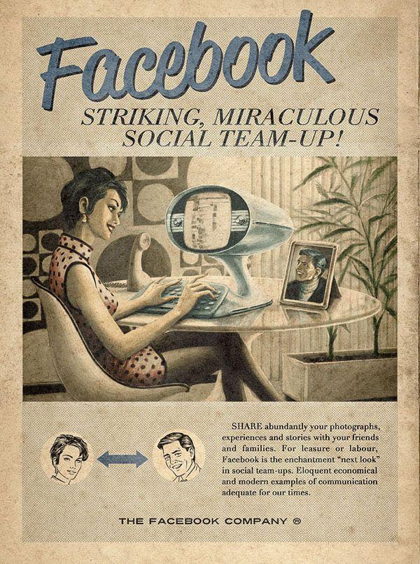 Retro Social Media Poster
