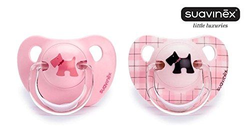"SUAVINEX ""EVOLUTION"" Nr. 3800173 - 2x Pacifier Soother Dummy Anatomical Silicone Teat/ PINK (6m+)"