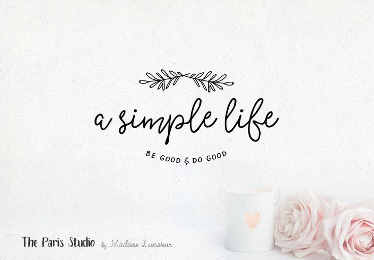 Hand Drawn Style Handwriting Logo - blog logo, photography logo, restaurant branding, website logo, boutique logo, creative business branding or small business logo.