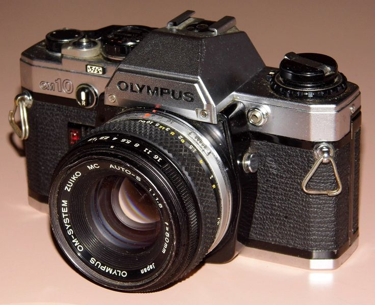 Vintage Olympus OM-10 35mm SLR Film Camera, Made In Japan, Introduced In 1979, With Electronic Control, Automatic Exposure And Focal Plane Shutter