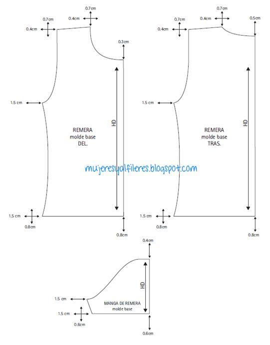 Mujeres y alfileres  Progresiones de remera básica de manga corta para ...   876c72c48415f