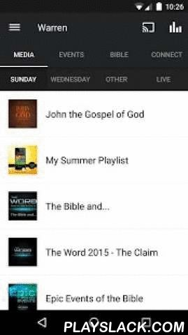 Warren: A Way Of Life  Android App - playslack.com ,  Welcome to the official Warren Baptist Church App. This app will connect you to resources and information intended to help make disciples and multiply disciple makers for Jesus Christ. Features:*Messages from Pastor David McKinley and others for watching, listening, downloading and sharing*Live streaming*Pertinent information on upcoming events*An ESV Bible for reading or listening*Connection through Twitter, Facebook, Blogs, Stories…
