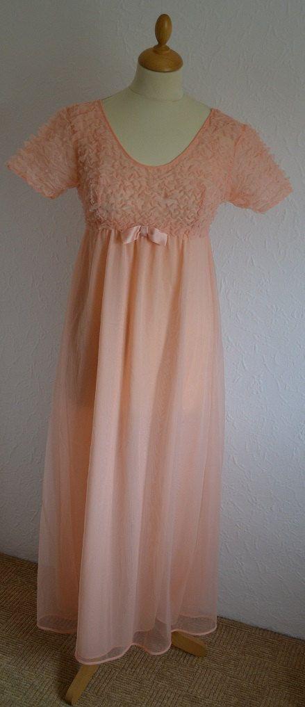 60s Pink Babydoll Nightdress UK Size 6 by VeryVintageClothing, £16.00