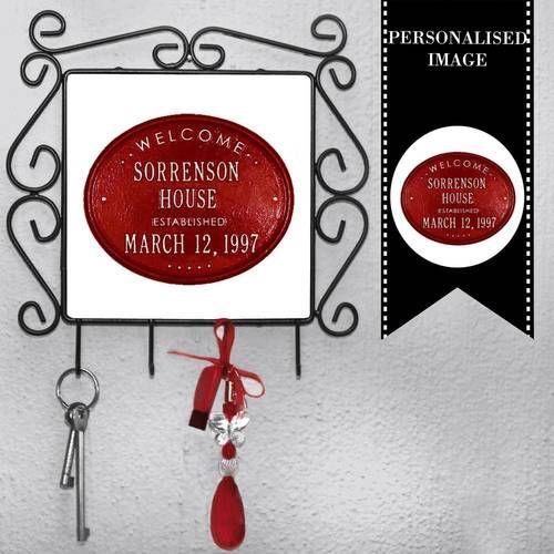 Personalised Keyring Holder - Silver Ribbon Gifts