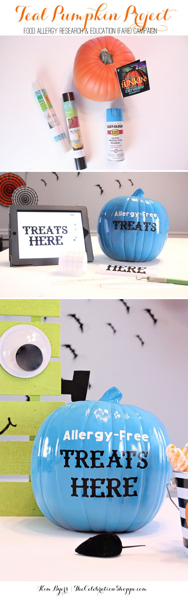 Decorate A Teal Pumpkin | Kim Byers - Halloween Teal Pumpkin Project - Include Kids with Food Allergies!