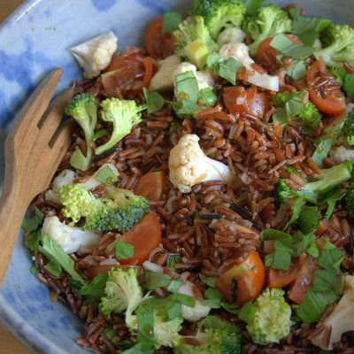 Italian Coloured Red Rice Salad-1