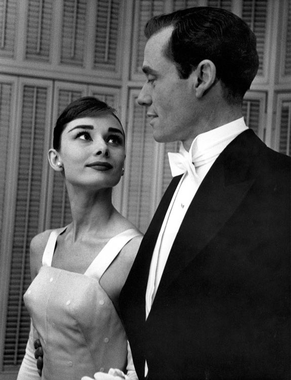 Audrey Hepburn and Mel Ferrer, married 14 yrs.  He was jealous of her success and very controlling.