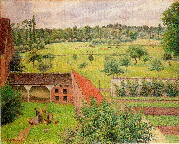 Камиль Писсарро. «Вид из моего окна». 1888 г.
