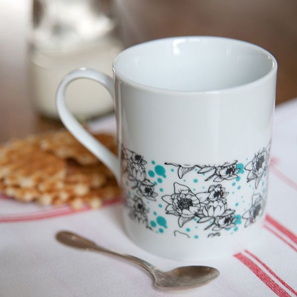 Taza de porcelana nénuphars bleus