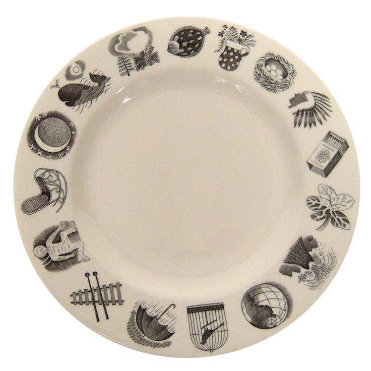 Eric Ravilious Alphabet Plate | 1stdibs.com