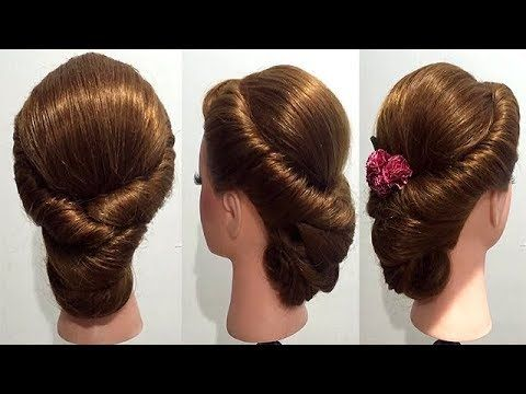 Hairstyle for every day with weaving. Easy every day hairstyle tutorial - YouTube