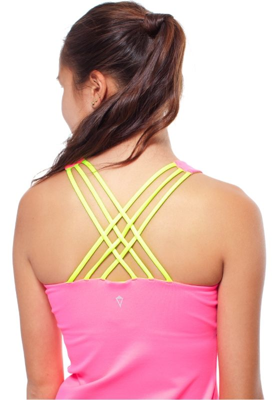 soft criss-cross straps give you the freedom to move and flow through your practice with amazing grace  | Amaze Me Tank