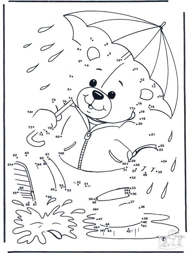 teddy bear connect the dot