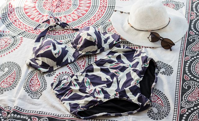 bikini sophie, selbst nähen, closetcasefiles, Schnittmuster, metterlink, material, high waist