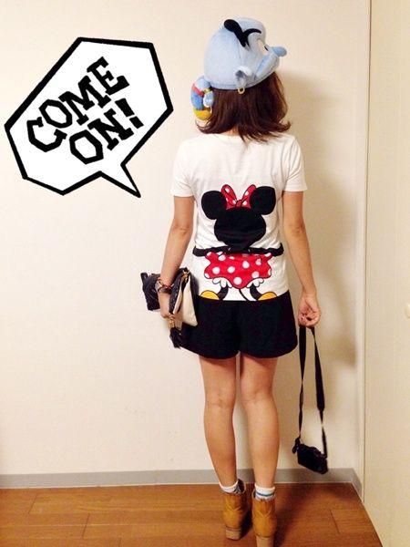 ディズニーランドファッションの参考に☆バックプリントのミニーTシャツが最高♡♡