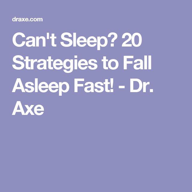 Can't Sleep? 20 Strategies to Fall Asleep Fast! - Dr. Axe