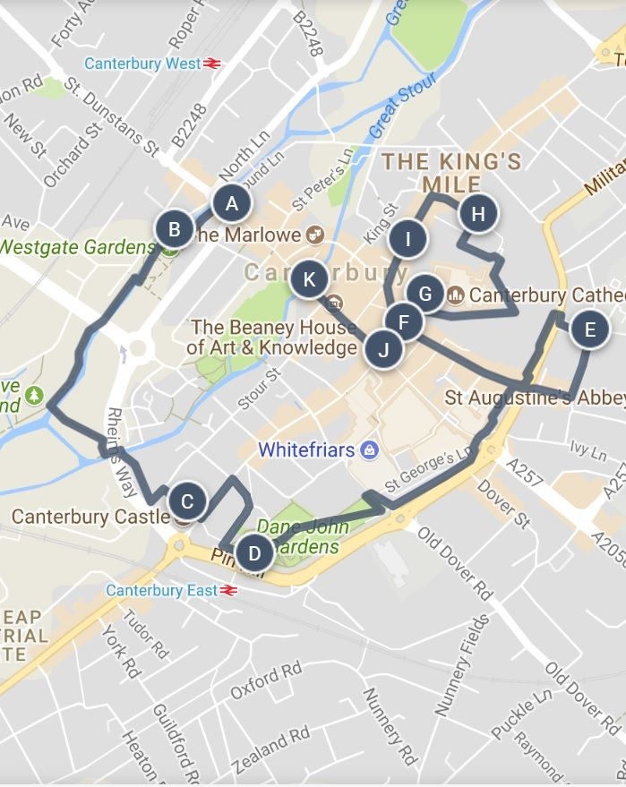 A Walking Tour Map Of Centuries Of Intrigue Through The Lanes Of