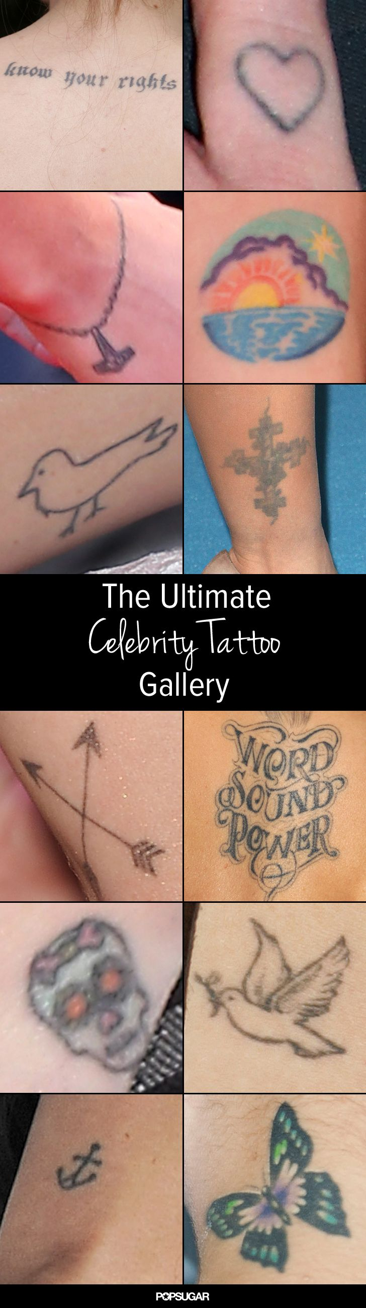 Need some ink inspiration? Check out the ultimate celebrity tattoo roundup!