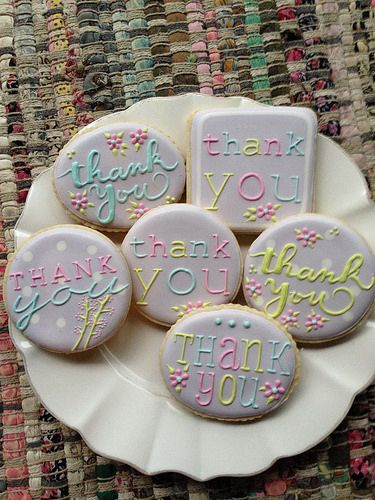 "Beautiful ""Thank-You ""cookies."