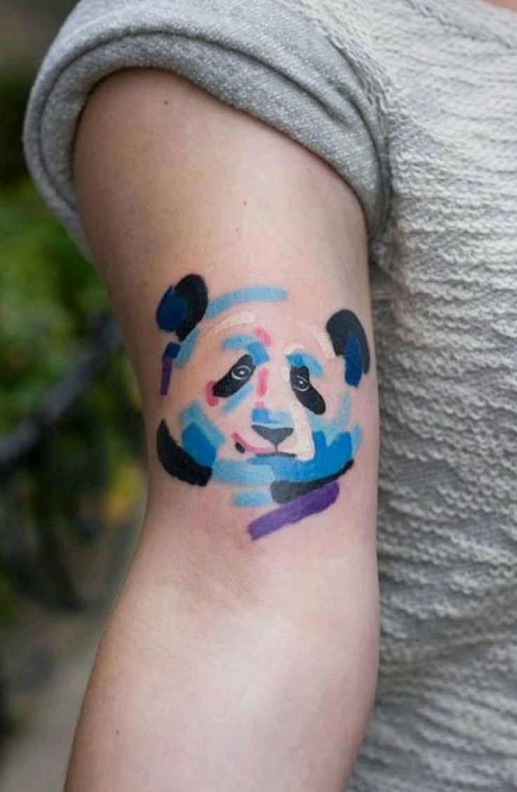 Stylised Panda Tattoos Tobiastattoocom panda tattoo