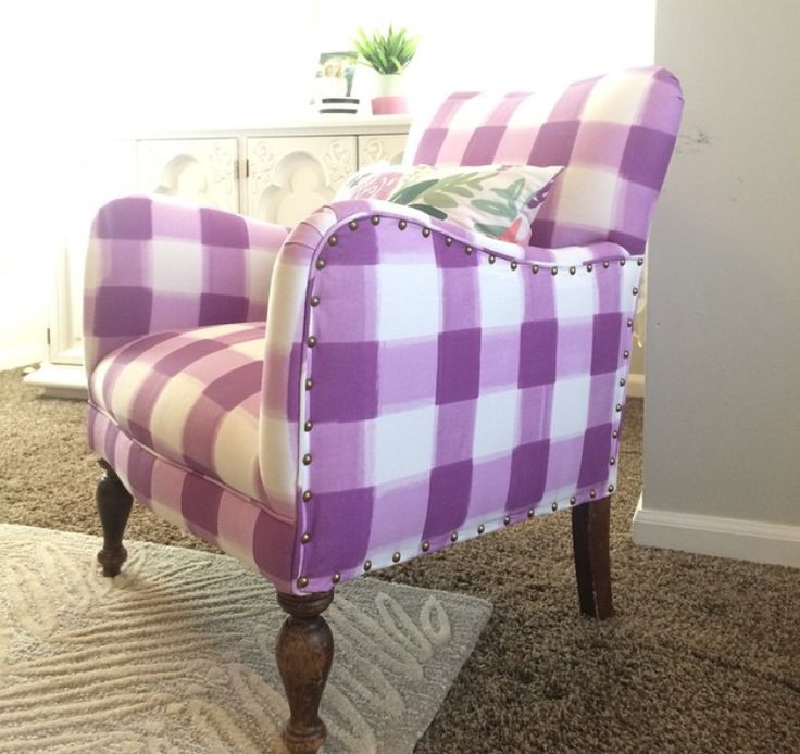 Caitlin Wilson Design Lilac Buffalo Check Fabric