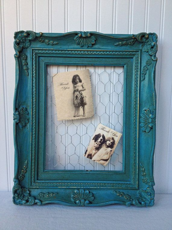 Vintage Picture Frame  Mesh Wire  Picture Holder  by RedouxChic, $38.00
