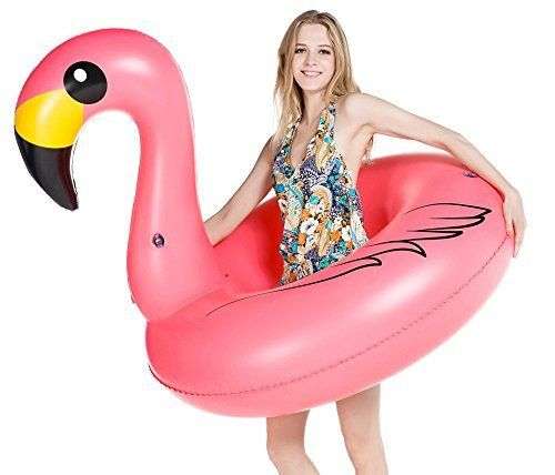 jasonwell giant inflatable flamingo pool float party tube with rapid valves summer outdoor swimming pool lounge raft decorations toys for adults kids