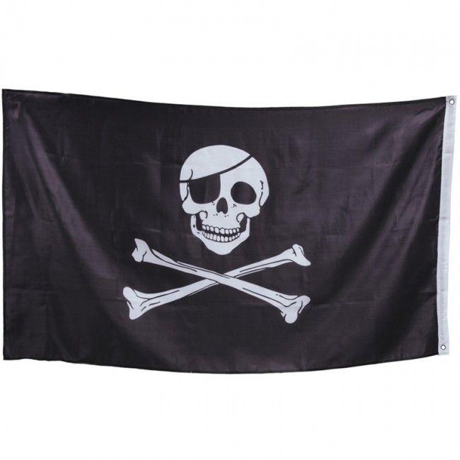 Bandera Pirata Caribeña #decoraciónhalloween #fiestahalloween